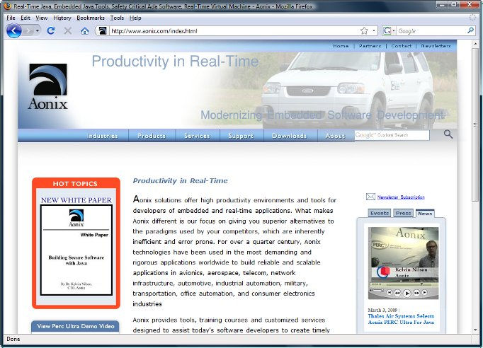 Aonix Real-Time Java Tools